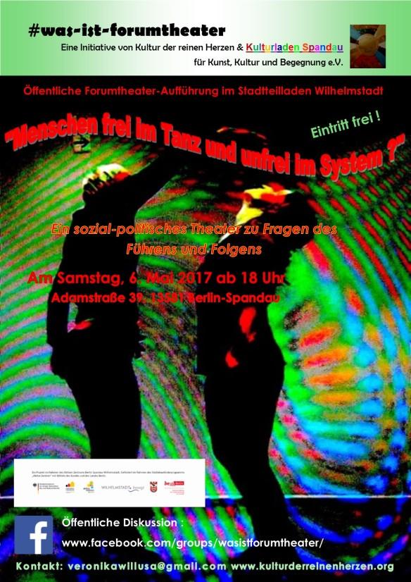 Plakat Entwurf für Menschen frei im Tanz
